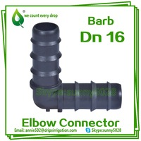 EC0116 Dn16 For Pipe and Dripline Elbow Connector with 90 degree Drip irrigation fitting Elbow