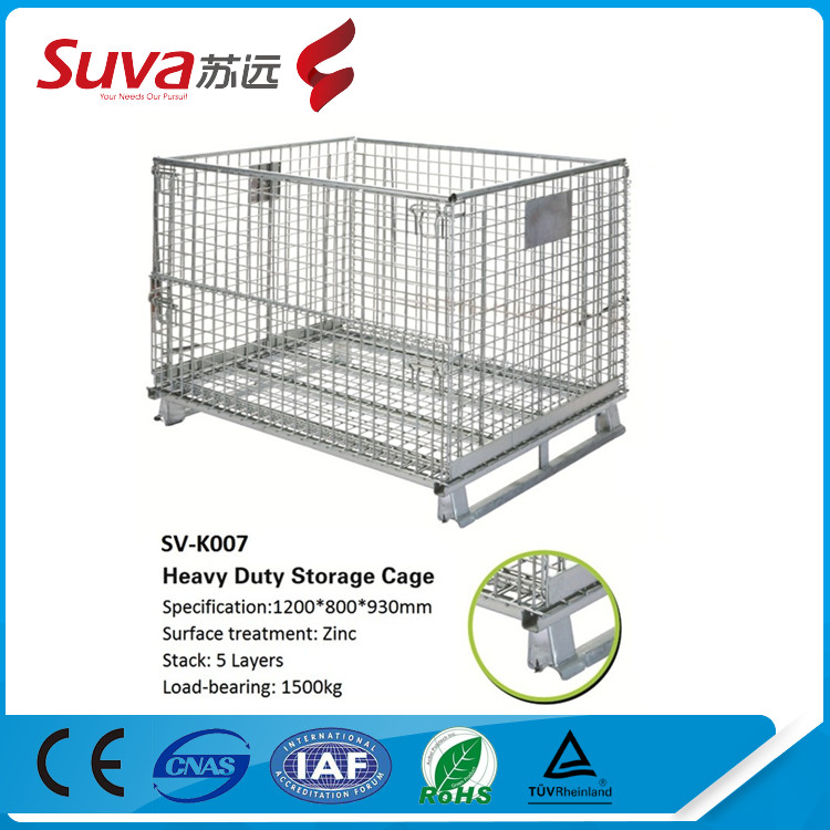 wholesale steel shipping cage equipment storage cages decorative metal storage bins