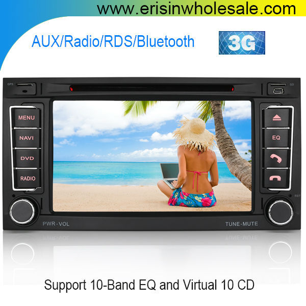 "Erisin ES7402M 7"" Virtual 10 Discs Double Din Car DVD Player"