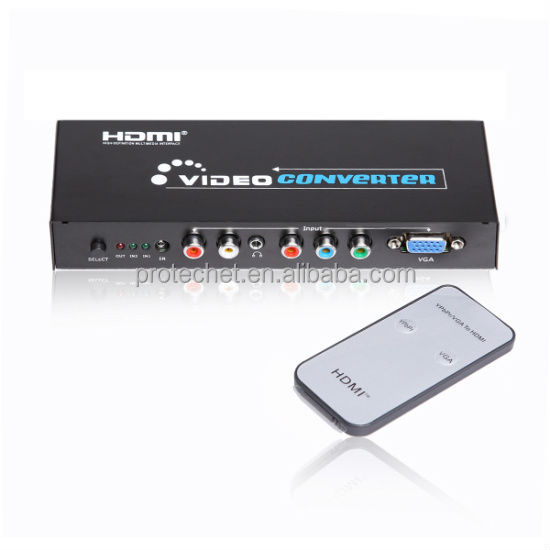 Best seller factory supply YPBPR componet rgb or vga+ audio to HDMI Converter Box