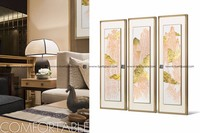 Wall art 4 panel group paintings hall decoration items chinese painting