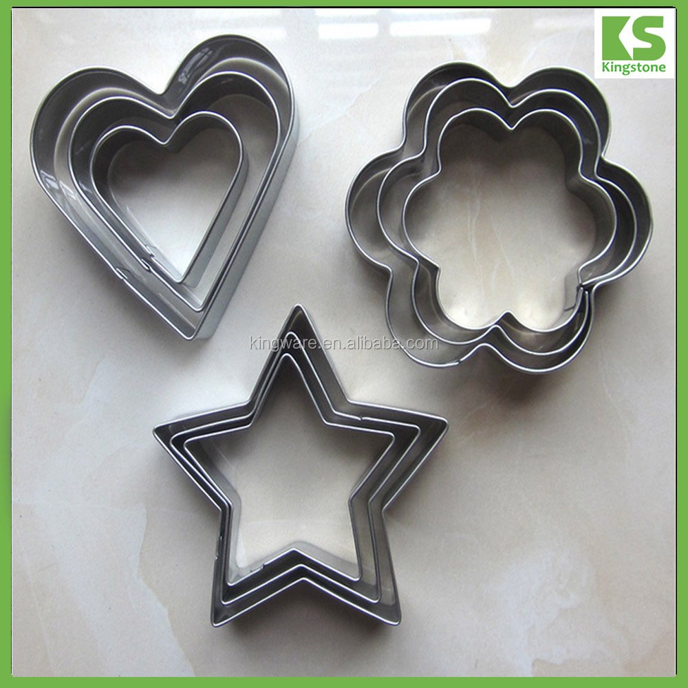 Different shape bulk stainless steel cookie cutter