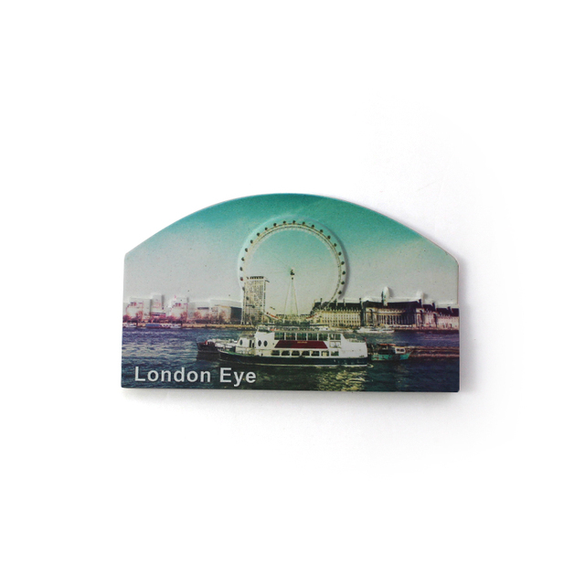 Useful london eye country shaped sculpture fridge magnets