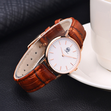 Custom Leather Strap Mens Automatic Luxury Watch Bracelet Wristwatches for Women Gold Girl