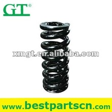 Excavator track recoil high tension spring