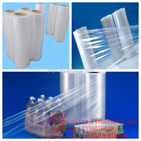 best price UV stablized antistatics clear transparent food grade plastic PE MPE stretch shrink cling film roll
