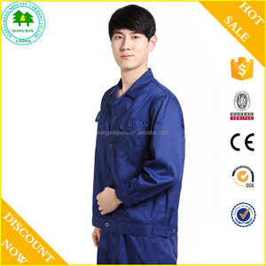 2016 new design factory uniform men workwear coverall