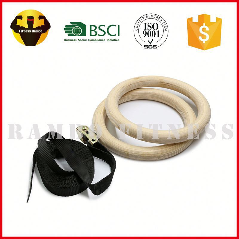 RAMBO Good quality wood gym rings