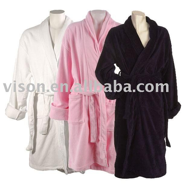 Hotel bathrobe/coral fleece robe /bedgown/gown/night-suit/pyjamas