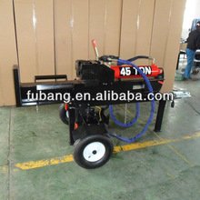 hot selling 45t 610mm horizontal and vertical operation gasoline engine wood processor with take-off