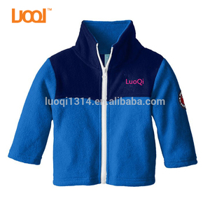 Wholesale 100% Cotton Fleece Children Clothing Windbreaker New Styles Baby Boys Jackets