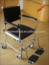 Attendant Propelled Steel Commode Chair