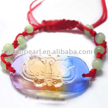 wholesale fashion glass beads for bracelet