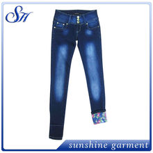 latest design for 2014 fashion skinny style with nice bottom lady jean