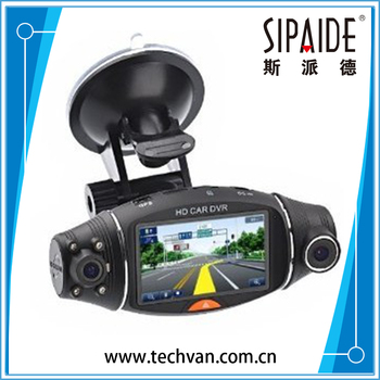 SPD117 Car Camera Car Dvr GPS Dual Camera Lens Camcorder Hd 1080p Dash Cam With Rear 2 Vehicle View Dashboard Ir Led Night