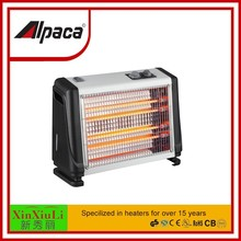 quartz radiant heater with fan and humidifying