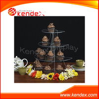 Clear acrylic cake counter food display stand tower