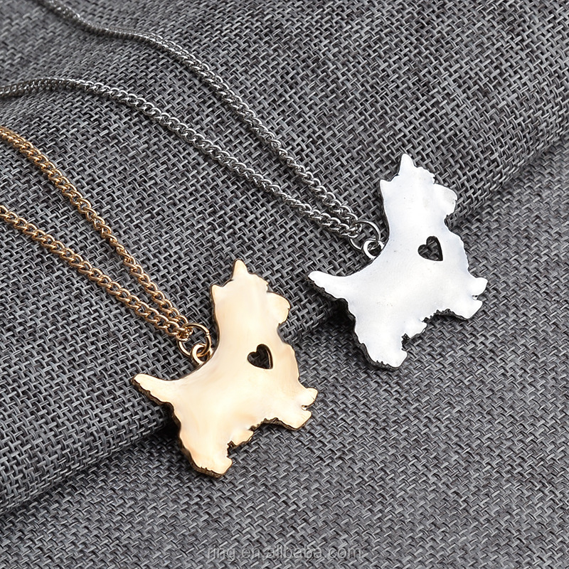 Silver Plated Westie Scottish Terrier Scottie DOG Puppy Charm Necklace New