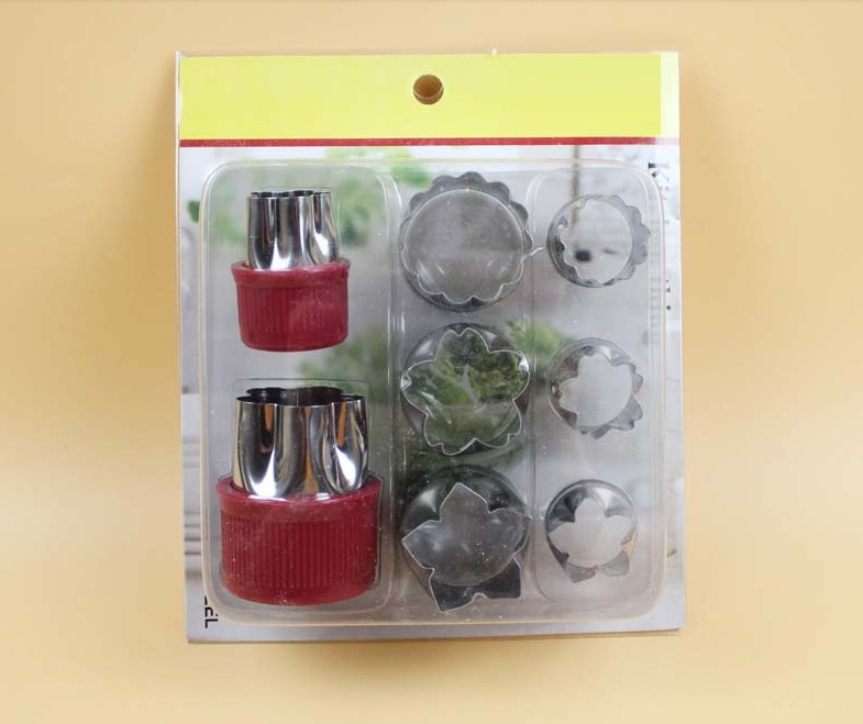private label new DIY stainless steel flower shape cookie Vegetable Fruit cutter/biscuit mould kitchen accessories