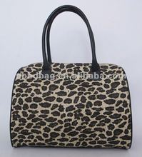 Hot selling leopard straw tote bag