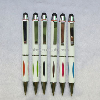 Office Supply 2 In 1 Metal Stylus Pen Best Ballpoint Pen Manufacturer