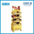 supermarket product portable t-shirt stand cardboard floor display