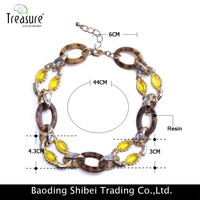 handmade fashion chunky colored plastic chain link necklace
