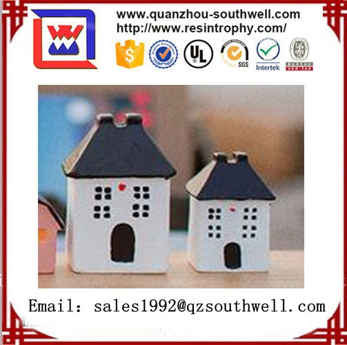 Small resin decorative model miniature houses for decor