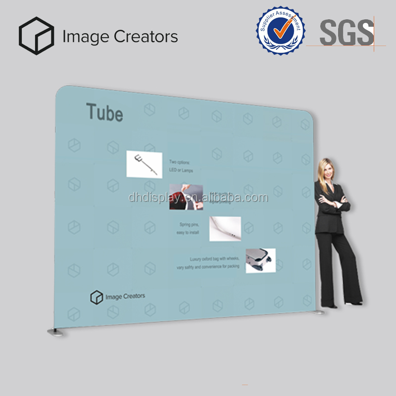 Popular easily manageable banner stand with support pole easy to install