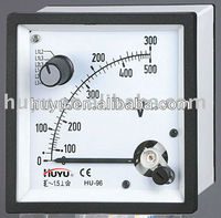 DF-96-A DF-72-A Series dc amp panel meter