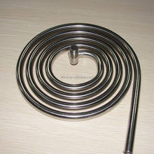 Stainless steel coiled tube of water cooled condenser