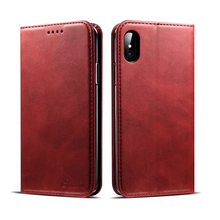 Durable cowhide leather mobile phone wallet case, for iPhone 8 case