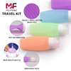 TSA Approved Bottles Silicone Makeup Brush Cleaning Bottle