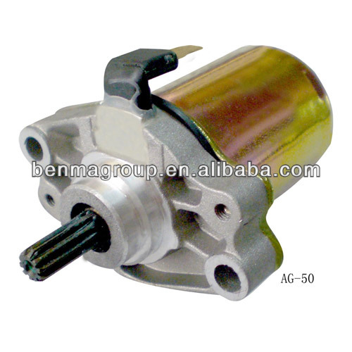 Scooter parts starting motor hot sell, China manufacture scooter starter motor AG50