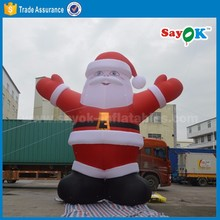 outdoor christmas decorations giant 25ft christmas inflatable santa claus