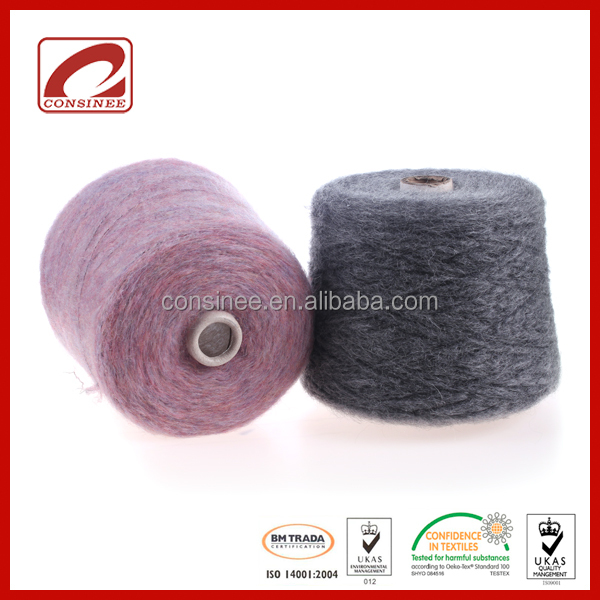 Stock Top Line brand wool blended mohair thick crochet yarn