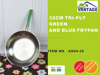 high quality stainless steel kitchen set /frypan