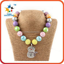korean kids crystal bubblegum beads chunky necklace girls jewelry
