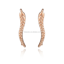 Fashion Earring Designs New Model Gold Leaf Earrings Design For Girls