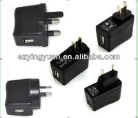5v1.2a usb wall charger/travel charger/mobile charger