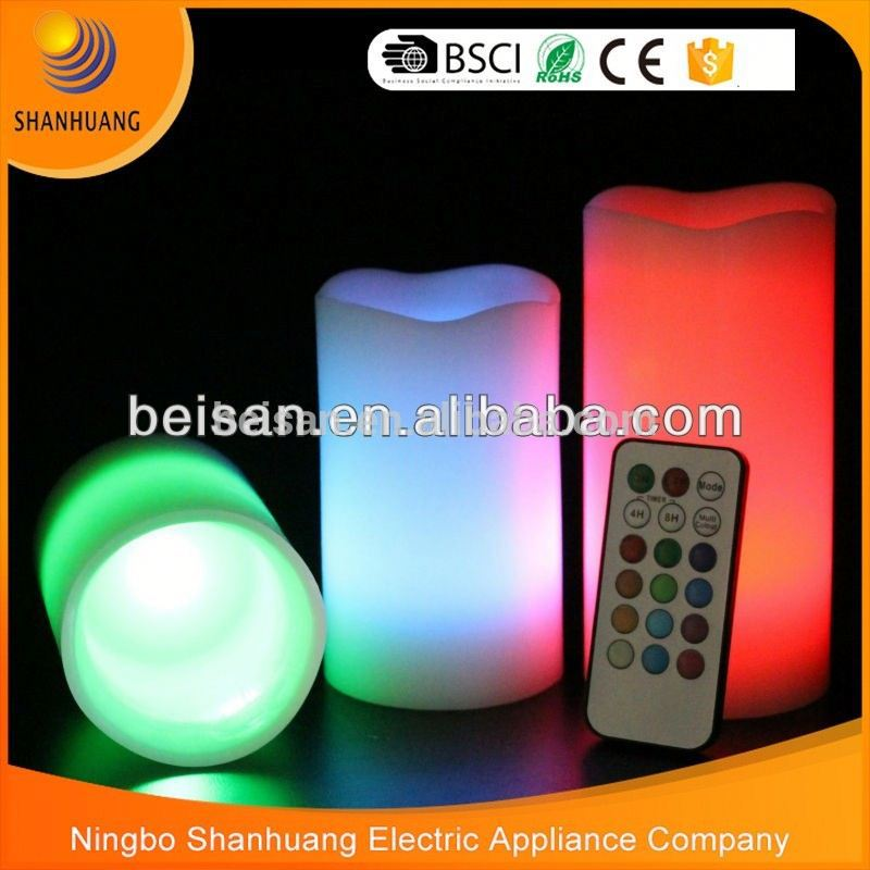 BST045-M8 Professional hot sale colorful pillar candle