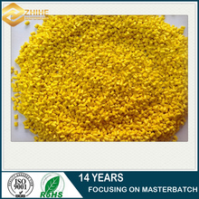 plastic pellets yellow color masterbatch for pp injection molding
