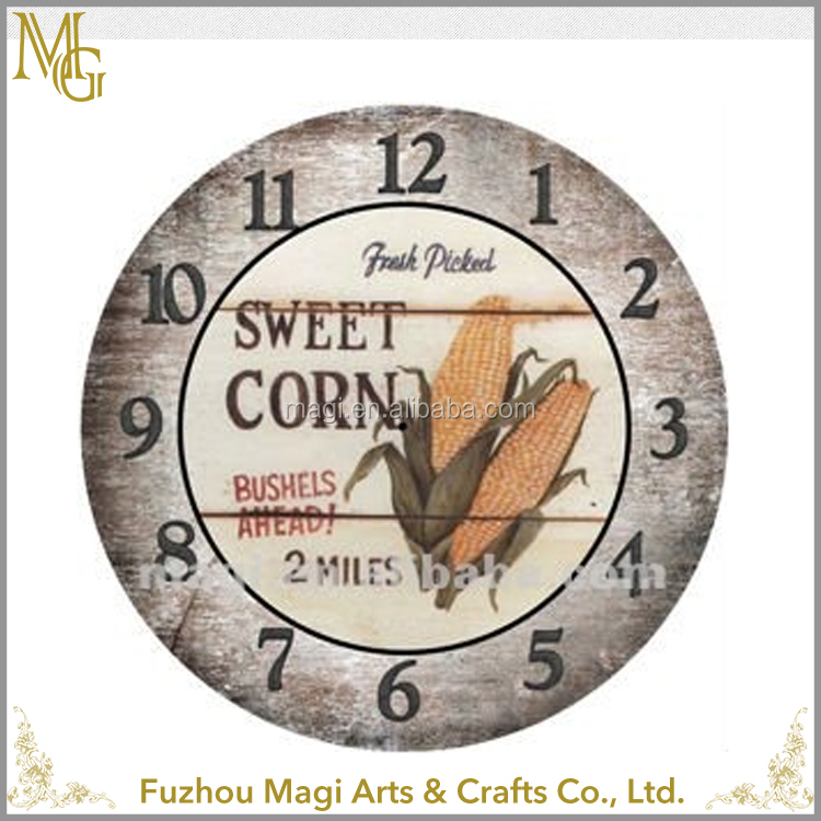 Customized home decorative wooden Numeral different types of wall clocks