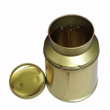 Tin Box Factory Supply Metal Round Milk Candy Tin Can