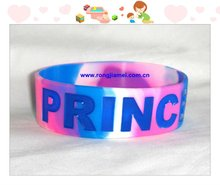 Mixed Color Wide Silicone Bracelet/silicon wrist band