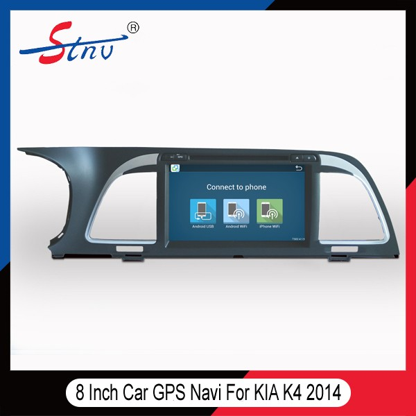 8 Inch Android Car GPS DVD For K4 <strong>K</strong>.I.A With Navigation/Radio/SWC/BT