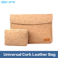 "Hot Sleeve Case Cork Bag For 9.7"" Tablet Wooden Leather case For iPad 1 2 3 4 Carry Bag"