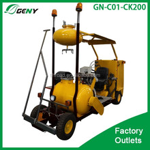 Sitting type cold spraying type paint marking machine for road construction