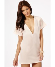 Zipper Oversized V-Neck Sex Time Girls Dress