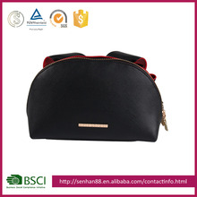Custom fashion travel black Support custom logo PU promotional eva and bag high-end hot sell ladies pu cosmetic bags